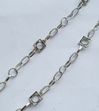 Round rope & Twisted ring chain. 1m length